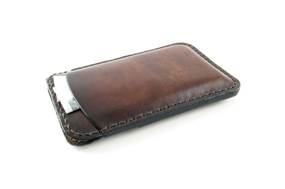 NEW  iPhone 5  Leather case Customized handdyed by giordanoart, $98.00