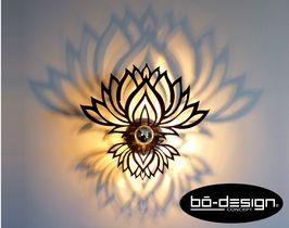 luminaire design concept innovant designer avec ombre portée au mur - applique murale modele LOTUS ZEN