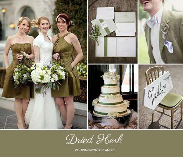 dried herb wedding inspiration http://weddingwonderland.it/2015/05/colori-pantone-autunno-2015-2.html
