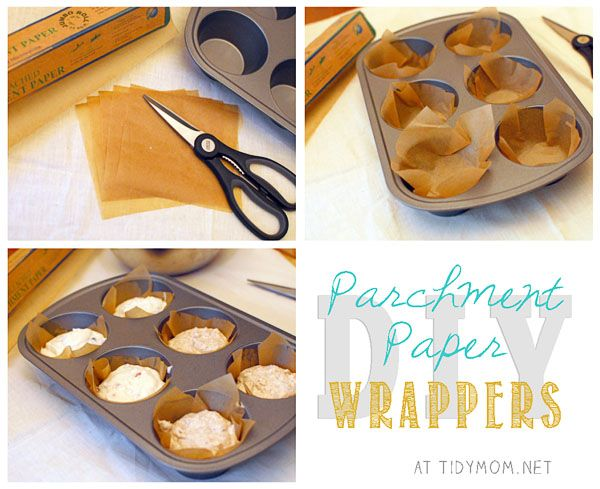 DIY Parchment Paper Wrappers at TidyMom.net