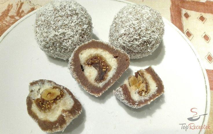 Egy újabb otthoni édességremek, ami nem igényel különösebb trükköket. A fenomenális mogyorós kókuszgolyó, sütés nélkül egyszerűen elkészíthető, és biztos nagy örömet fog okozni a család minden tagjának és a vendégeknek is. Bár a recept kissé időigényes, megéri a fáradozást. A finom füge először egy kókuszos, majd egy csokis rétegbe van csomagolva, végül az egész kis golyót kókuszreszelékbe forgatjuk.