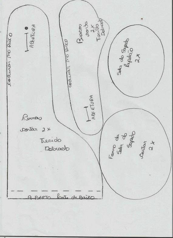 Coisinhas de Pano: Boneco Russo- Meu Boneco Frederico Molde e Passo á Passo29 moldes