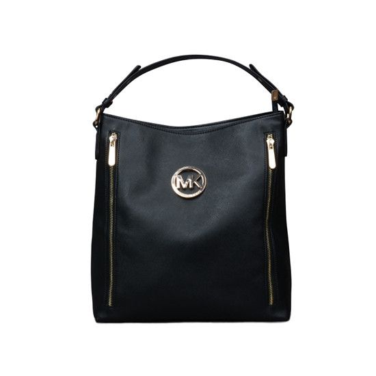 Michael Kors Miranda Zipper Medium Shoulder Bag in Black ($640)*