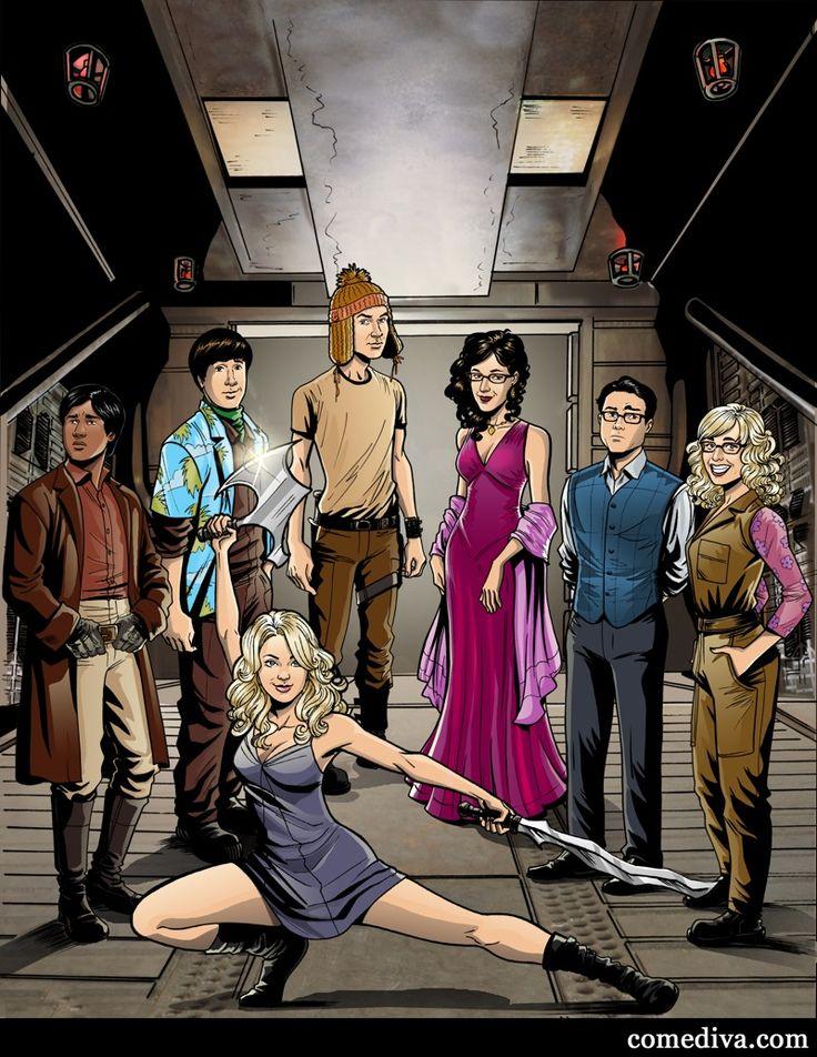 The Big Bang Theory cast as Firefly characters!Geek, Bigbangtheory, Joss Whedon, Comics Book, Big Bang Theory, Big Bangs Theory, Fireflies Crew, Theory Cast, Mr. Big