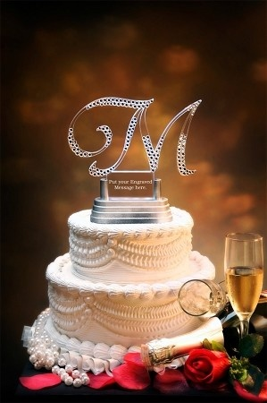 Bling Letter Wedding Cake Topper