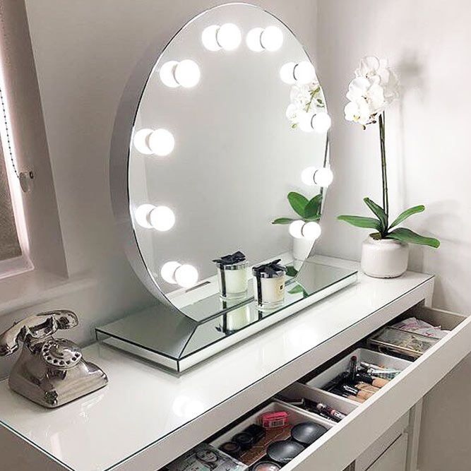 24 Best Lighted Makeup Mirror Designs 2020 | Makeup mirror with