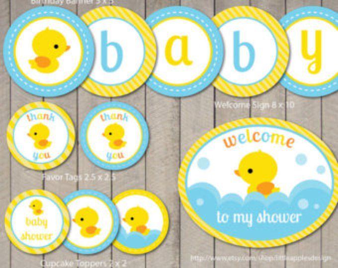 Pato de goma bebé ducha paquete / pato de goma Baby Pack ducha / Rubber Duck imprimible / pato de goma Baby Shower para imprimir