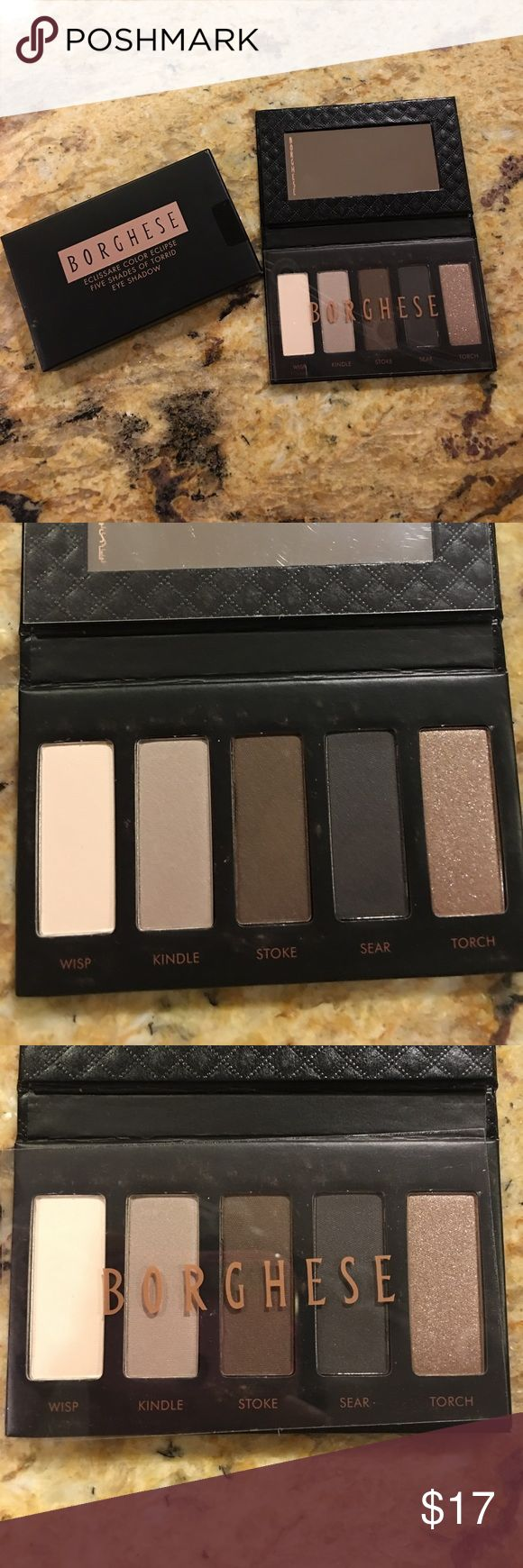 Borghese eyeshadow palette New in box-never used. Five shades of torrid eye shadow.. great colors..Accepting offers. bundle and save. Borghese Makeup Eyeshadow