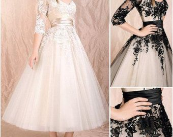 Long modest black lace prom dresses,classic cheap homecoming dress with 3/4 sleeves hot,unique elegant gowns for wedding party.