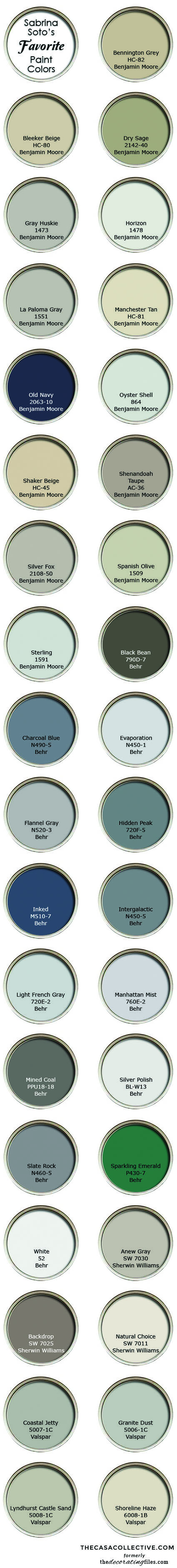 Choosing paint color is easier when you have the help of a professional designer! Here's a list of HGTV designer Sabrina Soto's favorite neutral paint colors.   TheCasaCollective.com   #choosingpaintcolor #paintcolor #neutralpaintcolors #sabrinasotofavoritepaintcolors