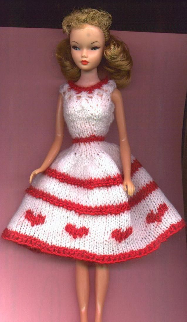 60 best Barbie Size Knit Patterns images on Pinterest | Crochet ...