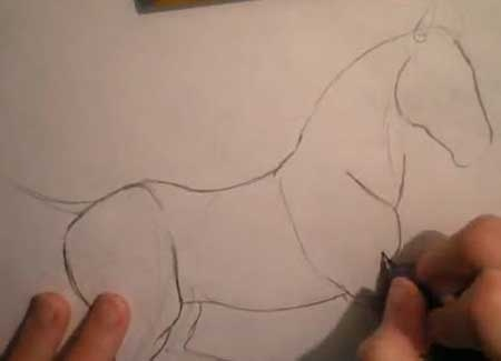 How to Draw a Horse - Pencil Drawing - Video Lessons of Drawing & Painting