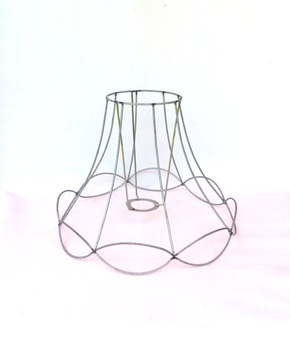lamp shade frame    wire frame  authentic vintage lampshade