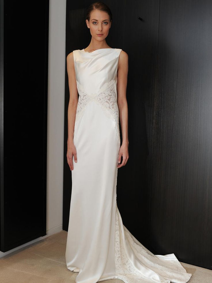 17 best ideas about structured wedding dresses on for Long sleek wedding dresses
