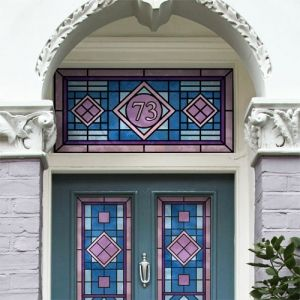 17 best images about stained glass signs monograms on for Victorian stained glass window film