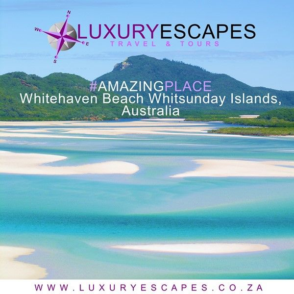 Today #AmazingPlace is Whitehaven Beach Whitsunday Islands, Australia is one of the world's most unspoiled and beautiful beaches and is located in the heart of the Great Barrier Reef. www.luxuryescapes.co.za