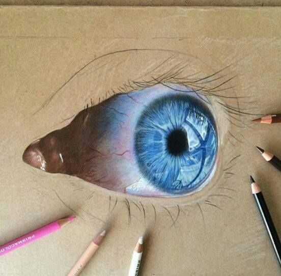 how to draw realistic eyes with color pencil