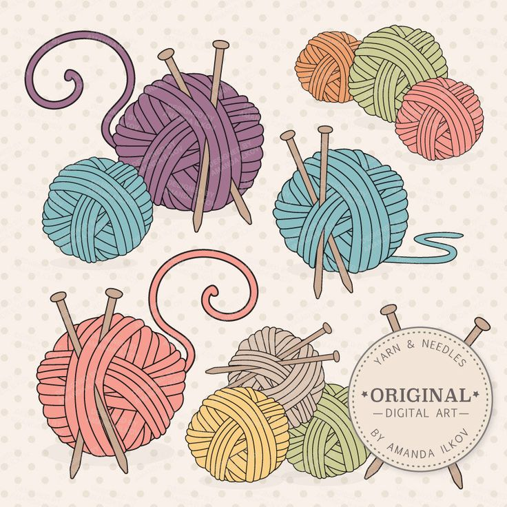 Premium Knitting Clipart & Vectors - Knitting Clip Art, Knitting Vectors, Yarn Clipart, Knitting Needles Clipart, Yarn Ball Clipart by AmandaIlkov on Etsy https://www.etsy.com/uk/listing/218643678/premium-knitting-clipart-vectors
