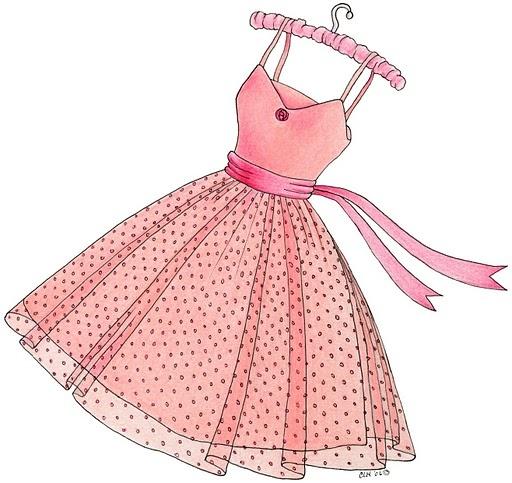 9 best Pink Dress Clipart images on Pinterest | Cartonnage ...
