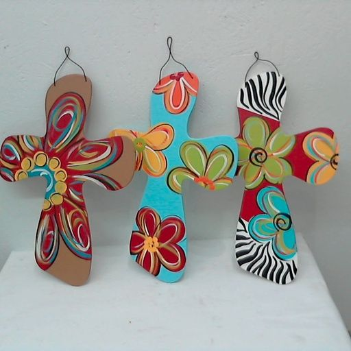 wooden crosses painted | CROSS WALL WOOD PAINTED HAND MADE ASSORTED STYLES HANDCROSS Price: $15 ...