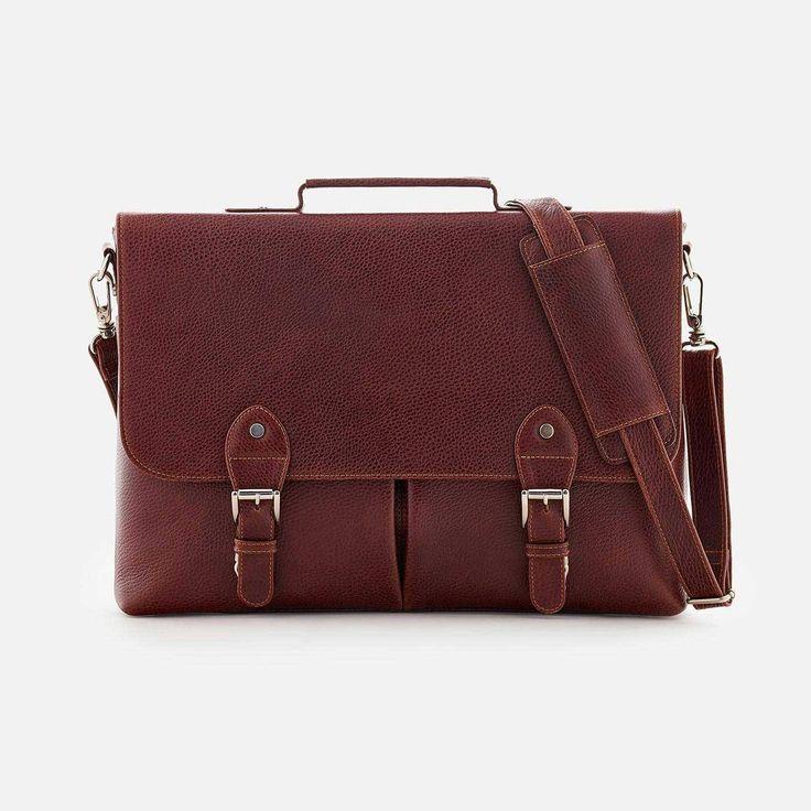 Dalton Satchel - Full grain Leather - Oxblood