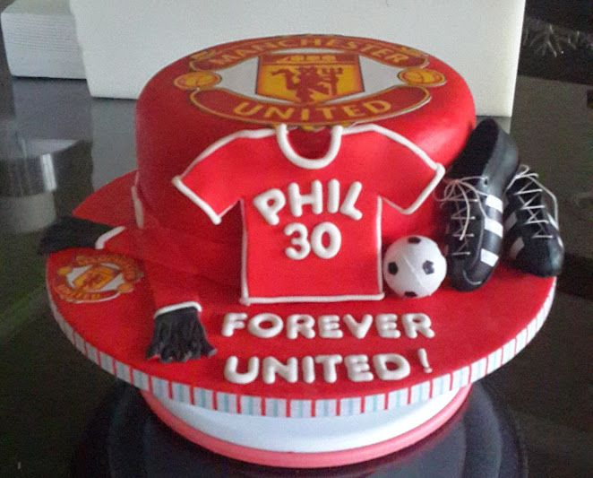 17 Best Images About Manchester United Cakes On Pinterest