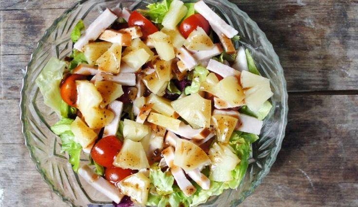 basamico_ananas_salade_gerookte_kip_cherry_tomaatjes