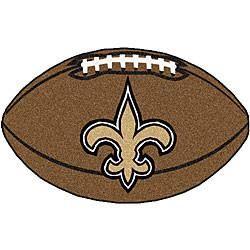 New Orleans Saints football shaped mat