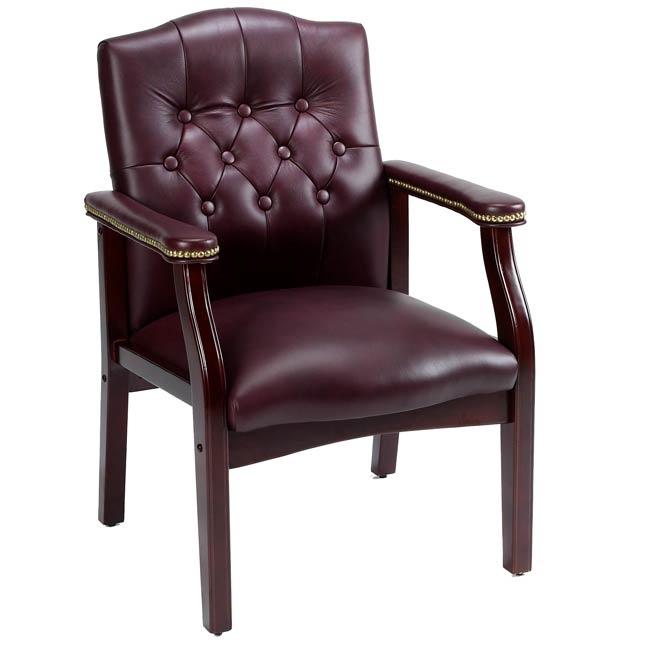 Burgundy/Plum Leather chair - $207
