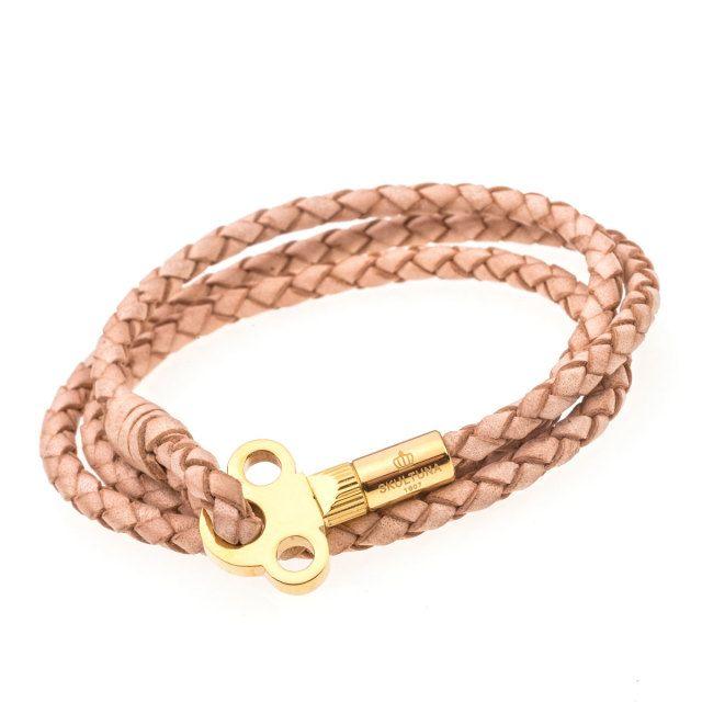 The Key Leather Armband, natur & guld   Beslutsångest!!!