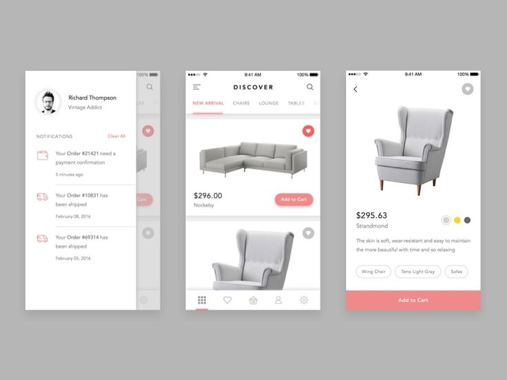 3045 best images about ui design inspiration on Furniture apps for iphone