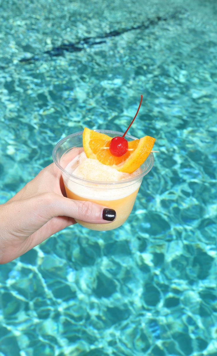 Orange-Coconut Creamsicle Daiquiri! Recipe:1/2 cup rum, 2oz Triple sec or orange liqueur, 2oz cream of coconut, 1 cup orange juice, 3 cups ice, Maraschino cherries. Add all ingredients to blender and blend well. Pour into glasses and top with an orange slice and maraschino cherry. Serves 2! (sp)
