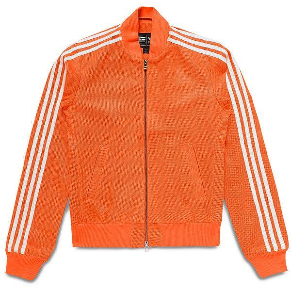 Adidas Originals X Pharrell Williams Orange Perforated Nappa Leather... ($1,041) ❤ liked on Polyvore
