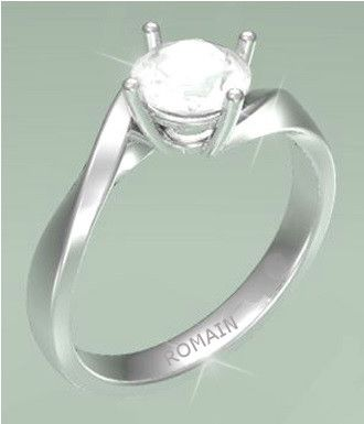 Twist Shank #Solitaire #EngagementRing - 0.76Ct K - SI2 Round Brilliant Cut #Diamond