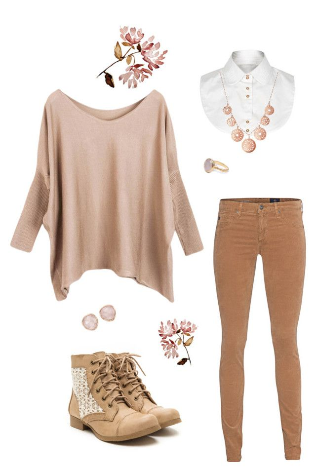 """""""Rose gold"""" by gardenofroses on Polyvore featuring River Island, AG Adriano Goldschmied, Links of London, Monica Vinader and Bohemia"""