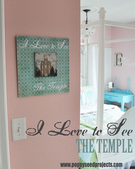 I Love to See the Temple LDS craft projects. How perfect is this for a Super Saturday project! Or Enrichment night. LOVE IT for my little girls room,