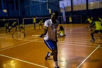 Ygor Coelho de Oliveira, 19, in a training session at the Miratus Center in Chacrinha. Come August, he and 20-year-old Lohaynny Vicente will be the first Brazilian badminton players at an Olympics. CreditDado Galdieri for The New York Times