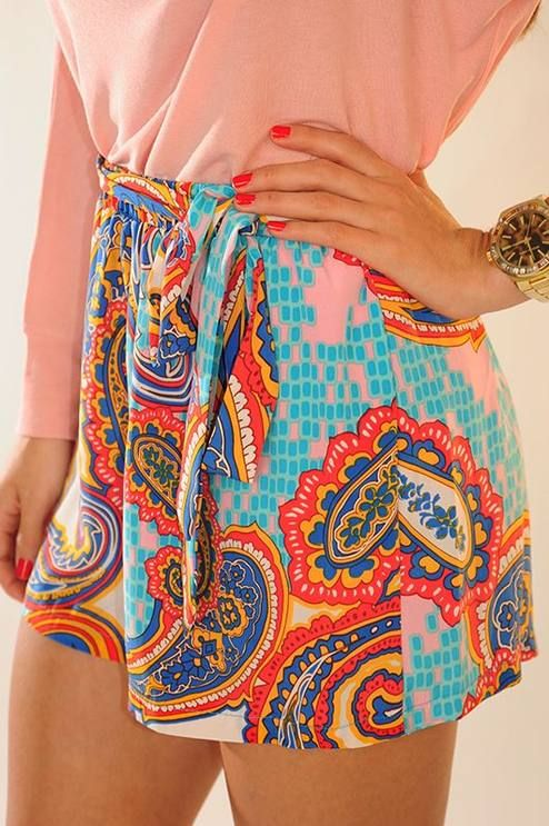Colorful printed skirt