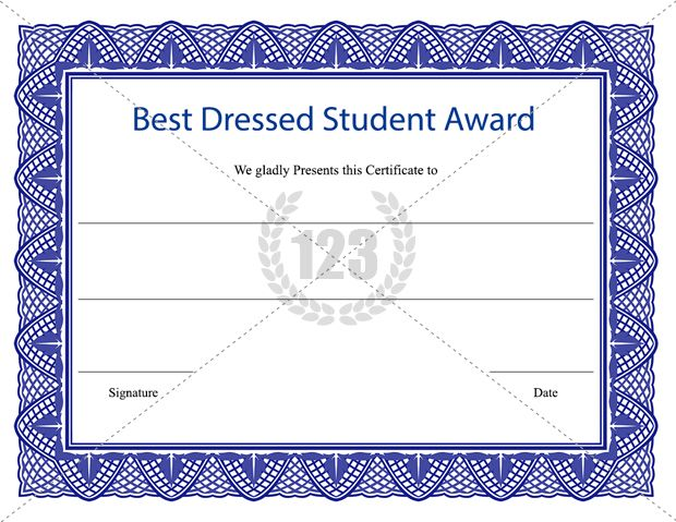 23 best award certificates images on pinterest award certificates best dressed student award certificate template download certificate templates yelopaper Image collections