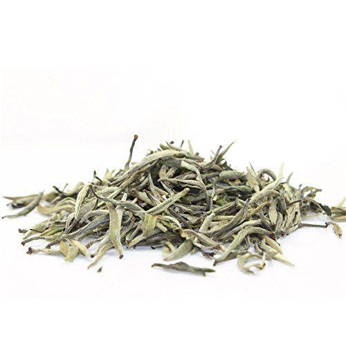 Organic White Silver Needle Tea - Bai Hao Yinzhen, 3.5oz / 100g - http://teacoffeestore.com/organic-white-silver-needle-tea-bai-hao-yinzhen-3-5oz-100g/
