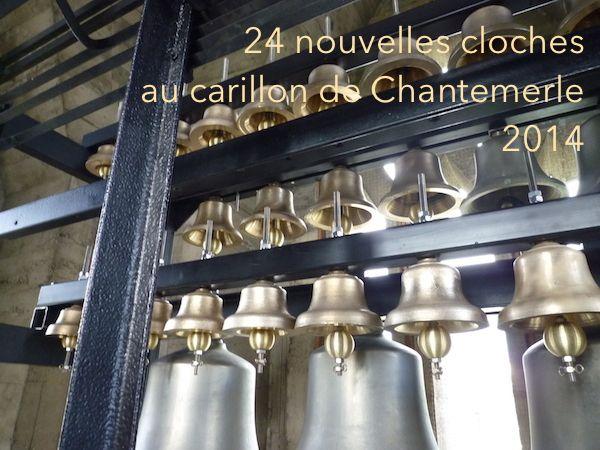 24 nouvelles cloches au Carillon de Chantemerle – langages.ch et carillons.ch Pully église de La Rosiaz Jeudi de l'Ascension 29 mai à 18h  Concert d'inauguration des 24 nouvelles cloches du Carillon de Chantemerle, qui passe ainsi à 4 octaves, 48 cloches!