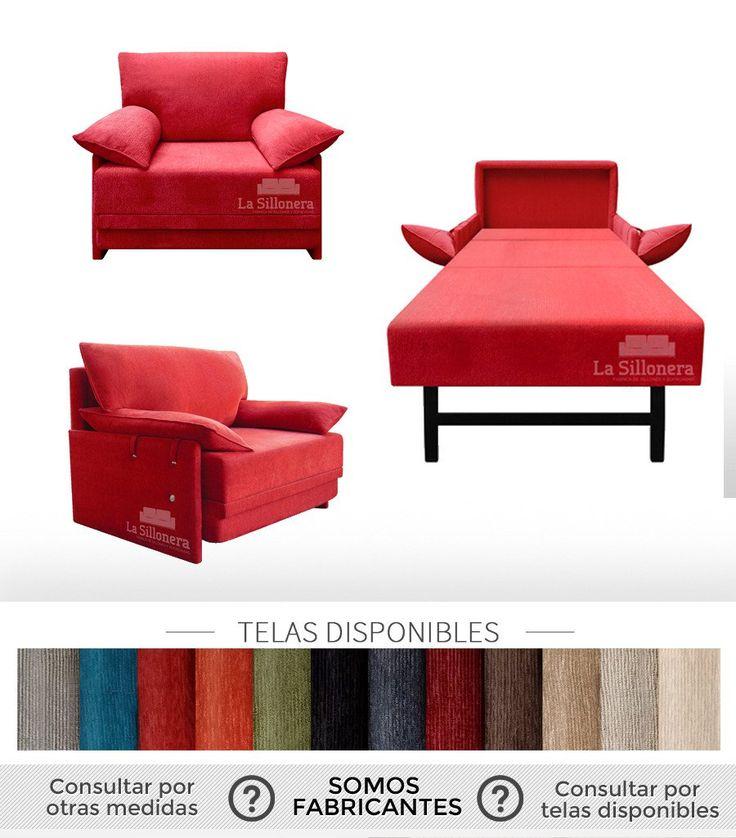 Sillon Cama De 1 1/2 Plazas, Excelente Calidad En Chenille - $ 10.990,00 en Mercado Libre