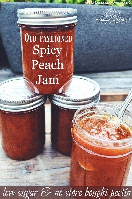 Spicy Peach Jam Canning