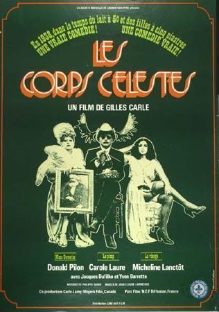 Affiche du film Les corps célestes (Gilles Carle, 1973 - Coll. Cinémathèque québécoise)