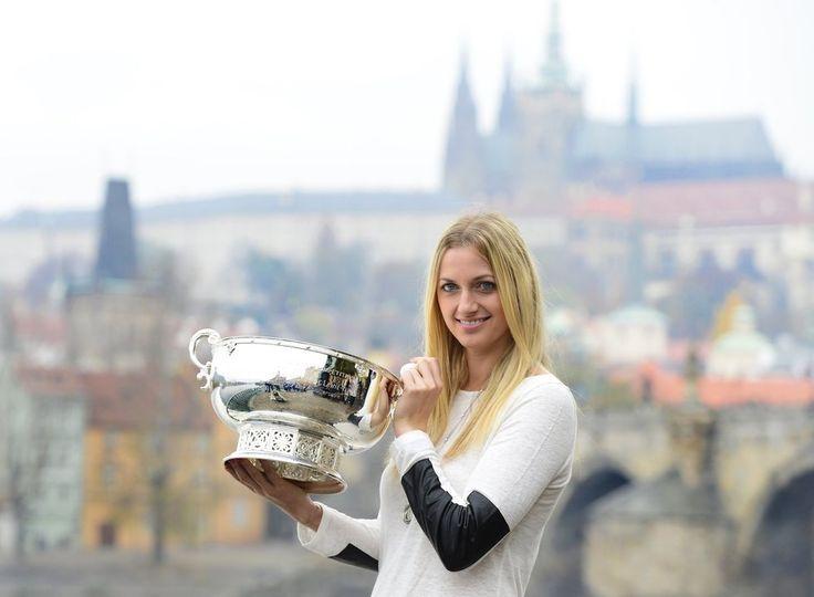 České tenistky během focení na Novotného lávce v Praze
