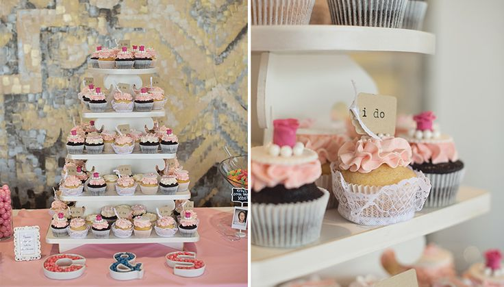 Cupcake Tower at Arcadian Loft #Wedding #Toronto #TorontoWedding #WeddingDetails #Cupcake #WeddingCake | Photo: http://www.christinecousinsphotography.com/