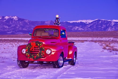17 Best Images About Christmas Trucks On Pinterest Trees