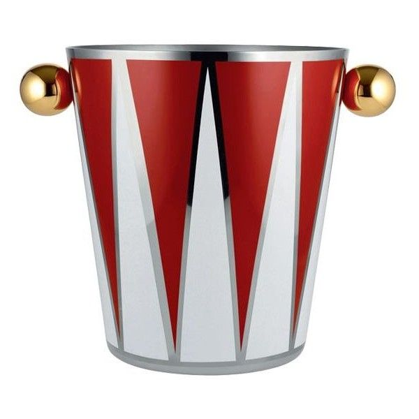 Alessi Home Circus Triangles Ice Bucket ($240) ❤ liked on Polyvore featuring home, kitchen & dining, bar tools, stainless steel wine chiller, stainless steel ice bucket, stainless ice bucket, alessi and alessi ice bucket