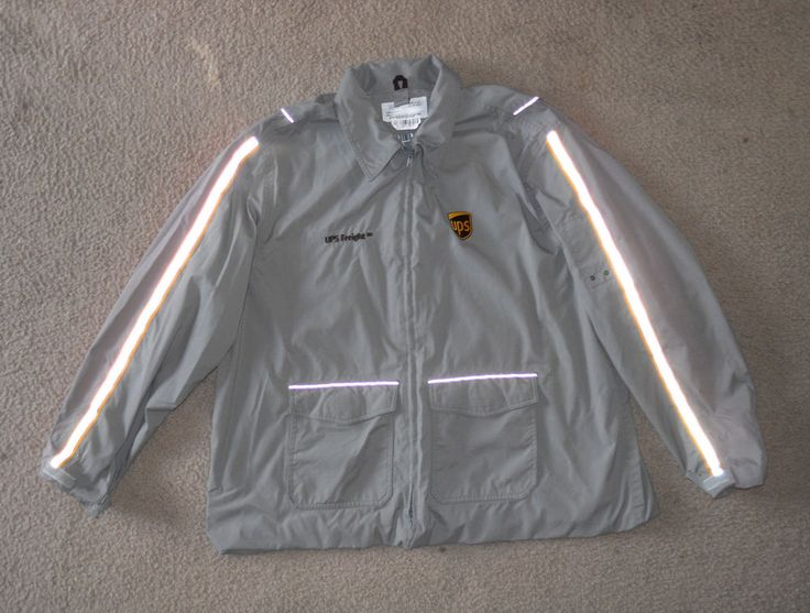G.A. Rivers 1736 UPS Freight Uniform Gray Reflective Zip Jacket 3XL #UPSGARivers