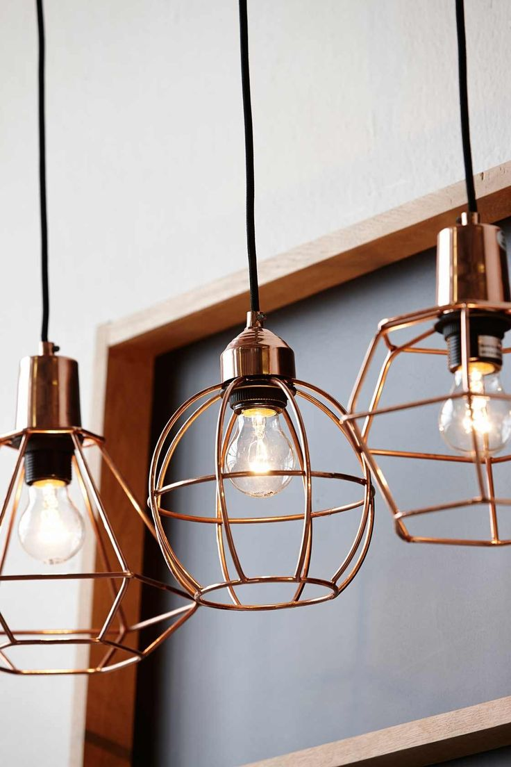 love these copper wire lights for the kitchen #product_design #lighting_design